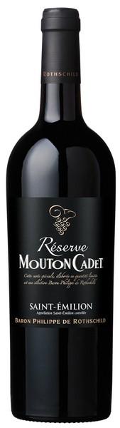 Baron Philippe de Rothschild Réserve Mouton Cadet Saint-Émilion Bordeaux AOC - 2015, 5,95