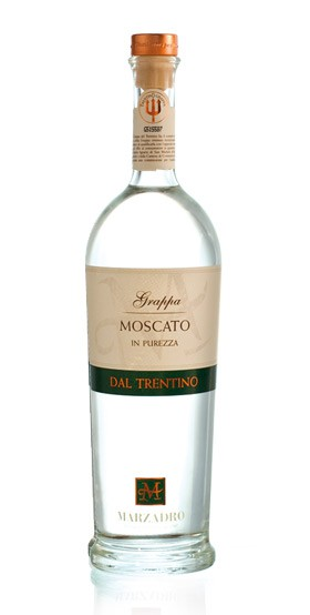 Marzadro Grappa Moscato in Purezza dal Trentino