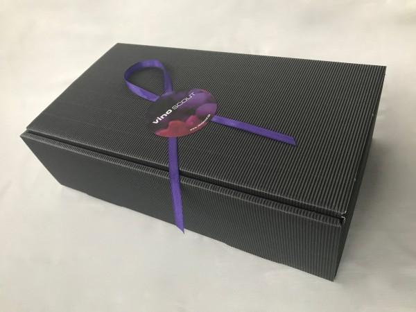 Geschenkkarton schwarz 2er incl. Sizzle und Schleife