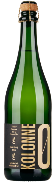 Kolonne Null Silvaner Brut prickelnd alkoholfrei - Jahrgang: 2018