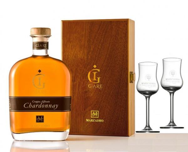 Marzadro Le Giare Affinata Chardonnay in Schatulle inkl. 2 Gläser