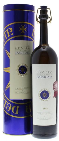 Grappa Barili di Sassicaia in Geschenkdose 0,5l
