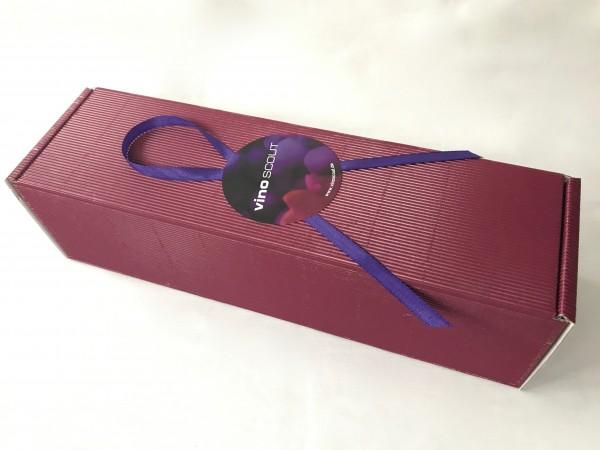 Geschenkkarton 2er goldfarbend mit Sizzle und Schleife