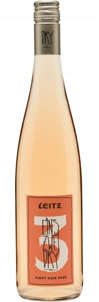 Leitz Eins Zwei Dry Pinot Noir Rosé trocken - Jahrgang: 2019