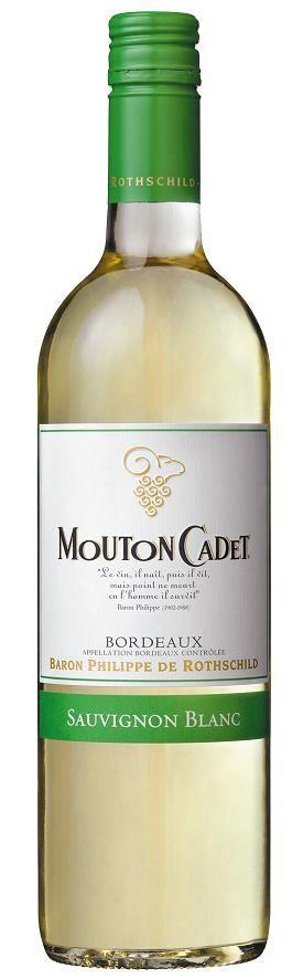 Baron Philippe de Rothschild Mouton Cadet Sauvignon Blanc Bordeaux AOC - 2015, 5,95