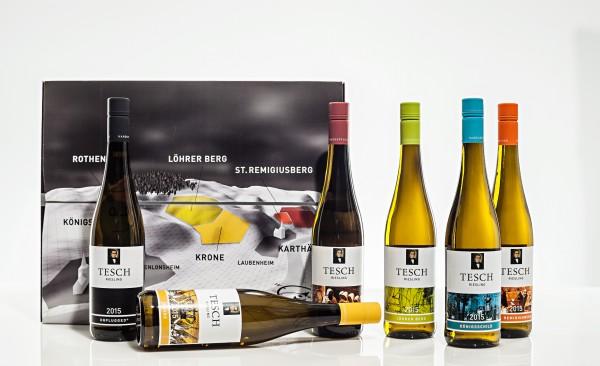 Weingut Tesch Mixed-Sixpack 6 x 0,75L Einzellagen Riesling