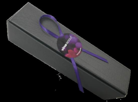 Geschenkkarton 1er schwarz mit Sizzle