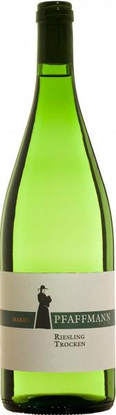 Pfaffmann Riesling QbA trocken 1,0 Liter - 2016