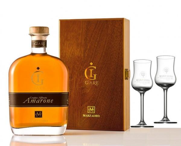 Marzadro Le Giare Affinata Amarone in Schatulle +2 Gläser